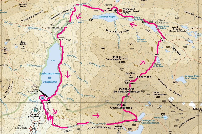 Comalesbienes 2993 m i punta alta de comalesbienes 3014 m mapa punta alta comalesbienes thecheapjerseys Images